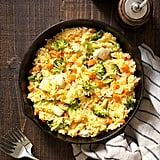 Cheesy Chicken Broccoli and Rice Skillet
