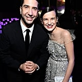 David Schwimmer and Millie Bobby Brown