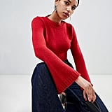 Boohoo Wide Sleeve Cropped Knit