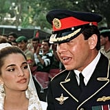 King Abdullah and Rania al Yassin