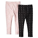 Baby Girls' 2-Piece Legging Set in Peach and Charcoal ($15)