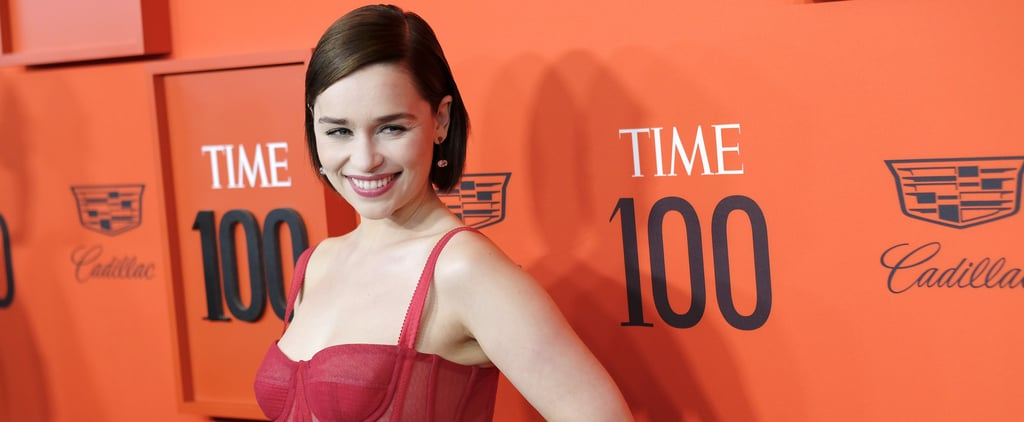 Emilia Clarke's Red Dolce & Gabbana Dress 2019 Time 100 Gala