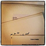 """Lucky Joe Zee got two invites to the Tom Ford show: one for him and one for his """"Spanish cousin"""" Jose. Source: Instagram user mrjoezee"""
