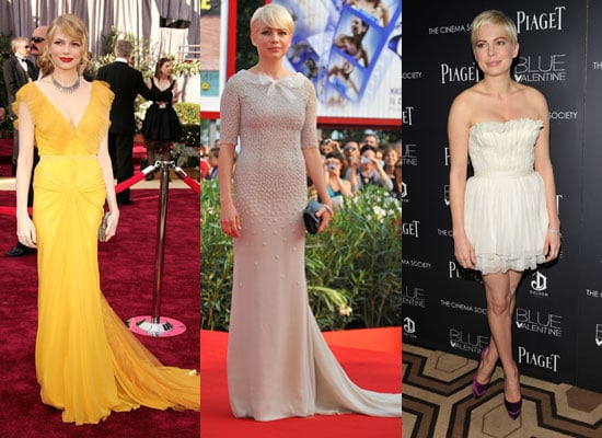 Michelle Williams Fashion, Style, Clothing Throughout The Years