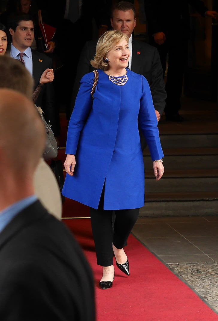 Blue Moment Hillary Clinton S Style Popsugar Fashion