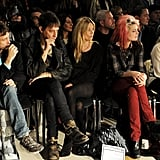 Kate Moss and Jamie Hince checked out the James Small Fall 2012 collection.