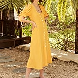 Kitri Lenora Yellow Midi Dress