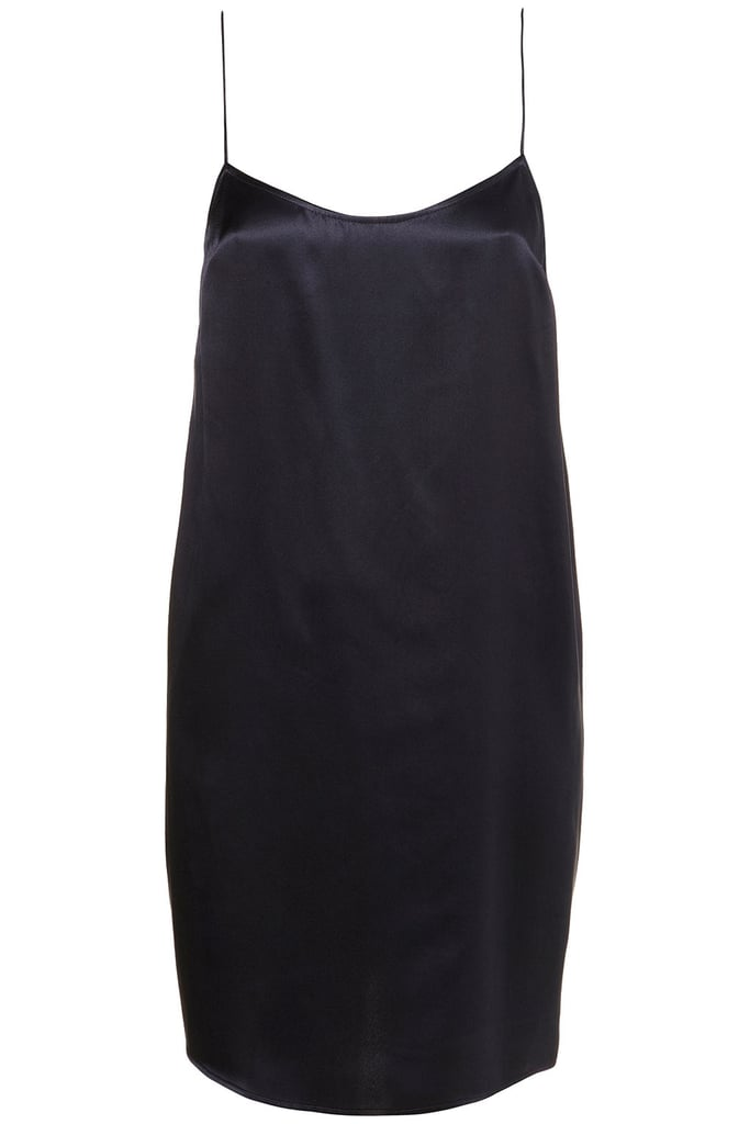 A sexy, elegant take on party dressing that would look fantastic with a pair of metallic heels.  Topshop Satin Slip Dress by Boutique ($100)