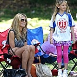Heidi Klum spent her day watching kids' soccer games in LA.