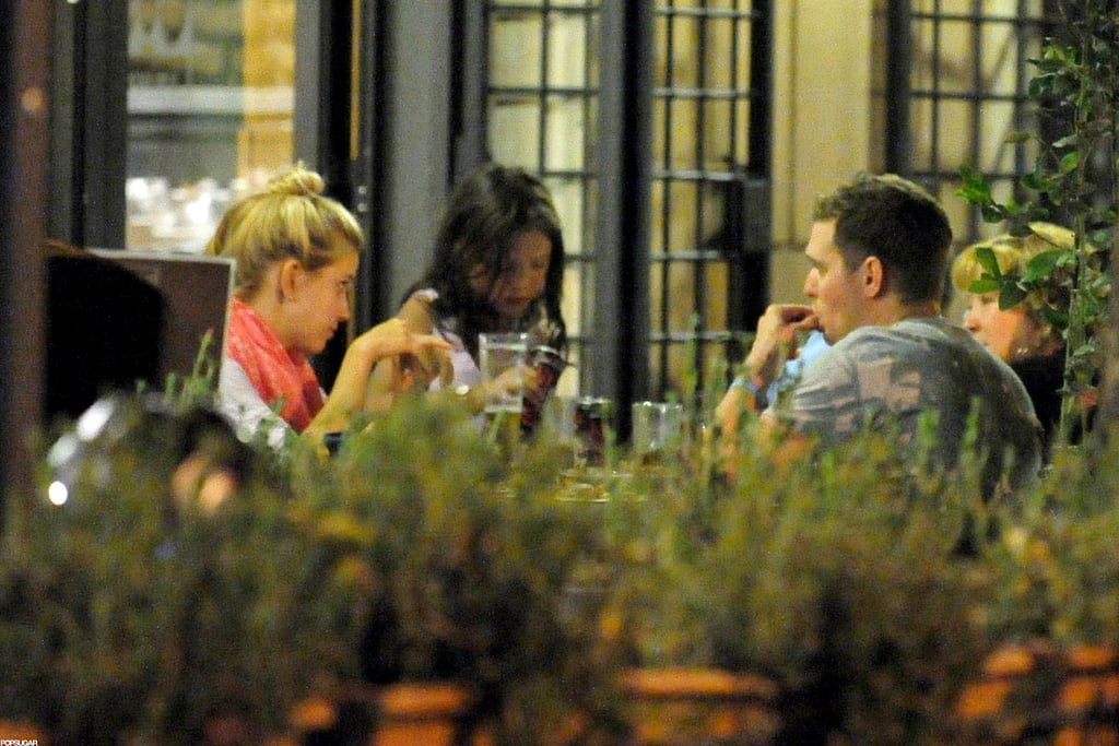 Michael Bublé and wife Luisana Lopilato had a dinner date in Rome.