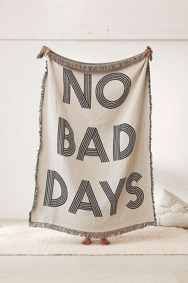 Urban Outfitters No Bad Days Woven Throw Blanket, $124.31