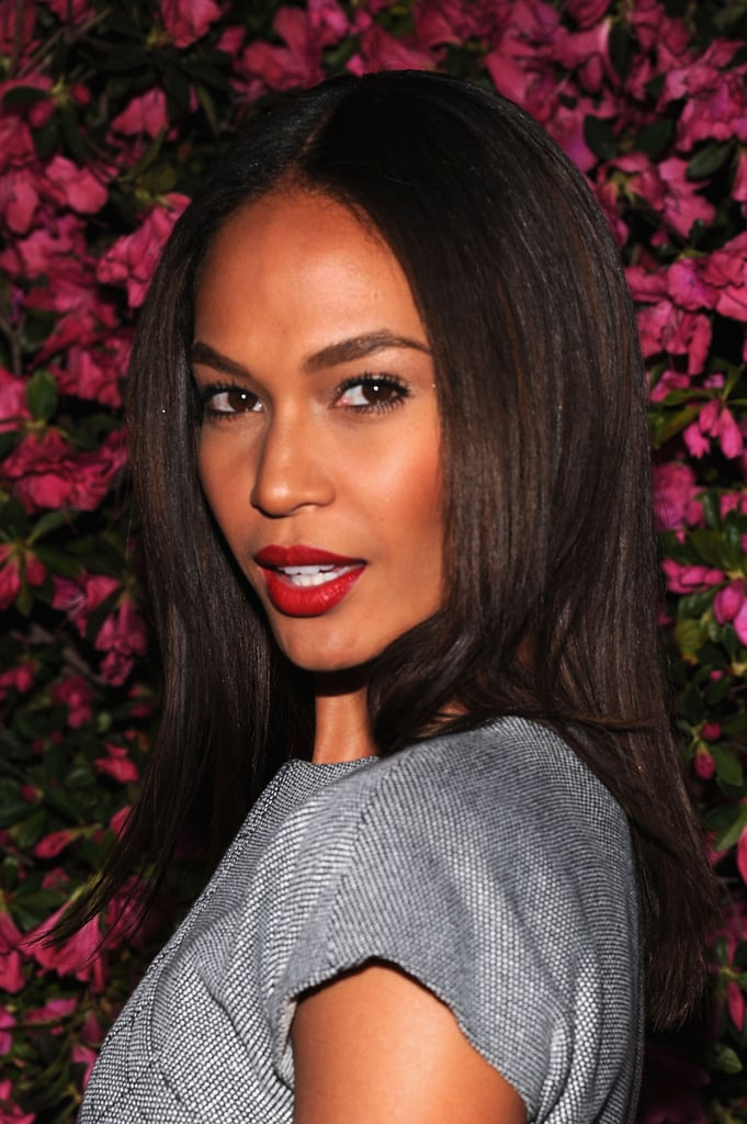 Joan Smalls' bold lip and fierce brows