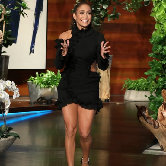 Jennifer Lopez Black Cutout Dress on Ellen