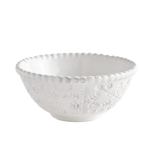 White Snowflake Cereal Bowl