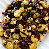 Balsamic Roasted Brussels Sprouts With Cranberries and Pecans