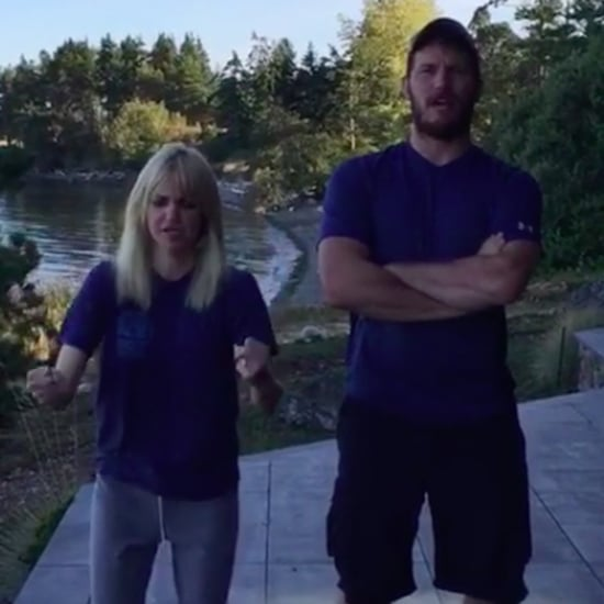 Chris Pratt and Anna Faris 22 Push-Up Challenge Video 2016