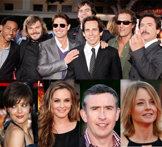 Photos Of Tom Cruise, Katie Holmes, Robert Downey Jr, Ben Stiller, Jack Black, John Krasinski & More At Tropic Thunder Premiere