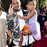 Pictured: Chance the Rapper and Kensli Bennett at The Lion King premiere in Hollywood.
