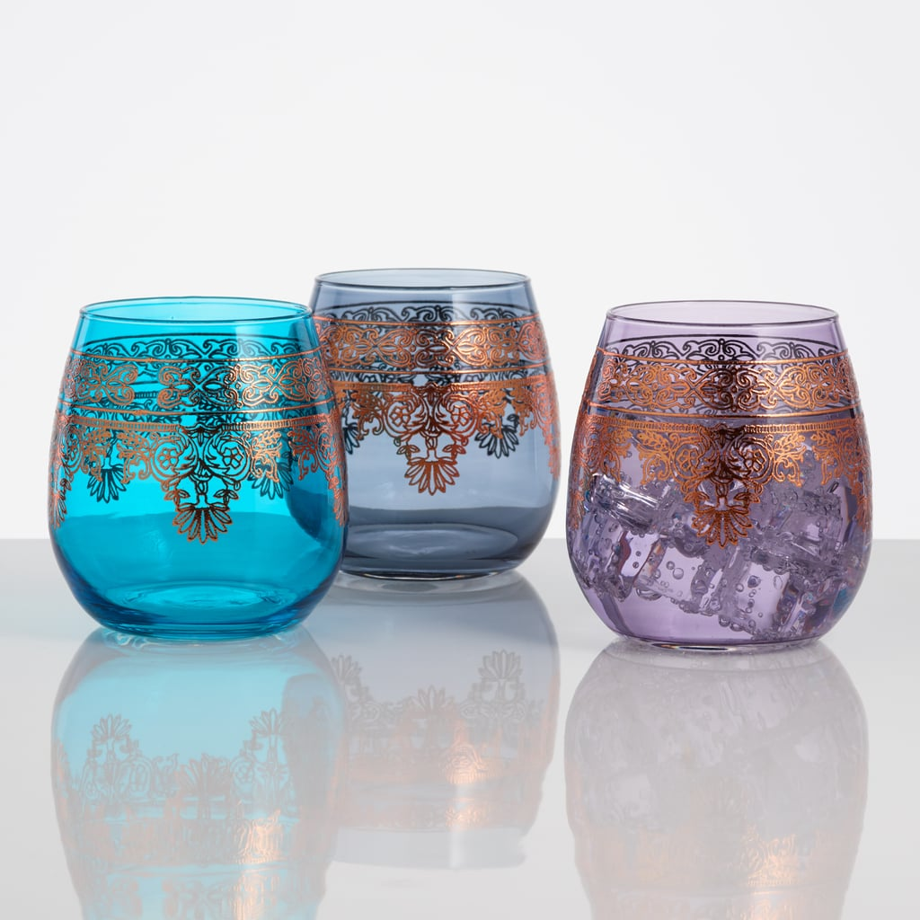 Moroccan Stemless Wine Glasses ($27 set of 3)