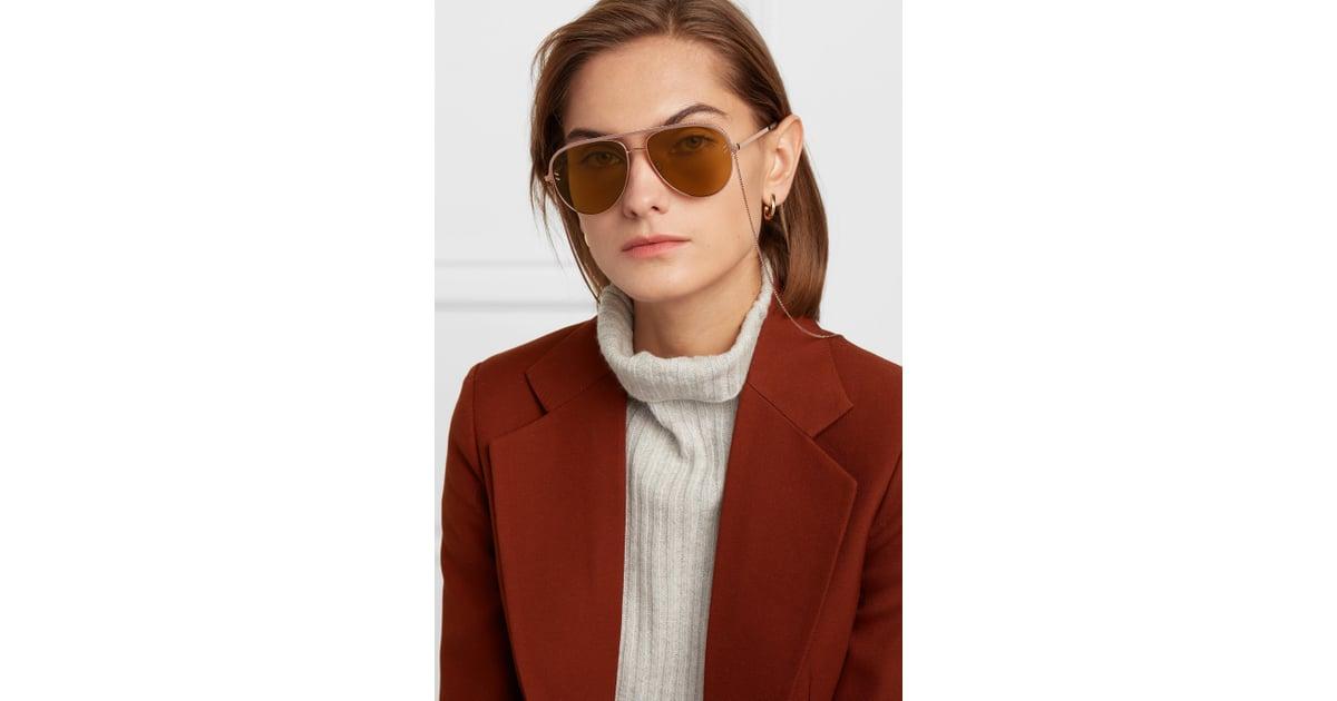 68231d86bef0 STELLA MCCARTNEY Aviator-style rose-gold-tone and acetate sunglasses |  Jennifer Aniston's Aviator Sunglasses April 2019 | POPSUGAR Fashion Photo 9