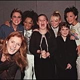 Sarah Ferguson, Mel C, Mel B, Princess Beatrice, Emma Bunton, Princess Eugenie, and Victoria Beckham
