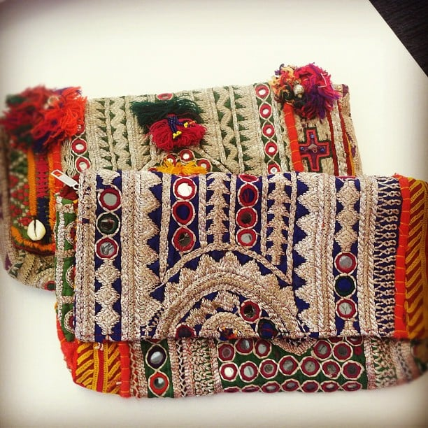 We couldn't take our eyes off these hand-embellished bags from Latitude.