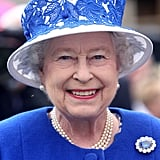 Queen Elizabeth Wearing the Sapphire Brooch