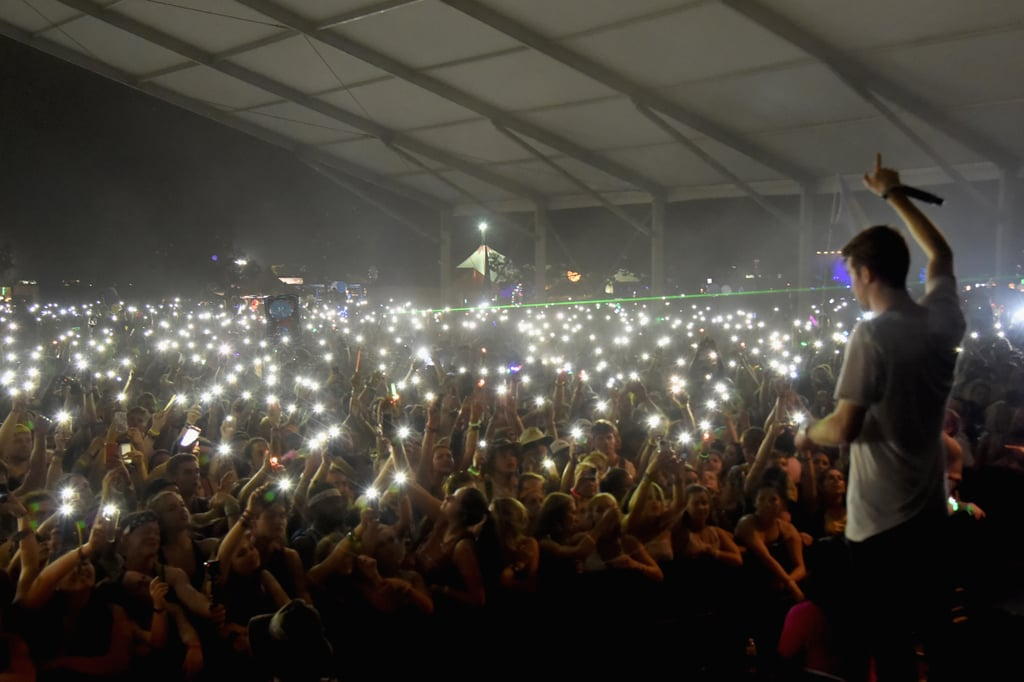 The Chainsmokers performing to a sea of lighters in 2016.