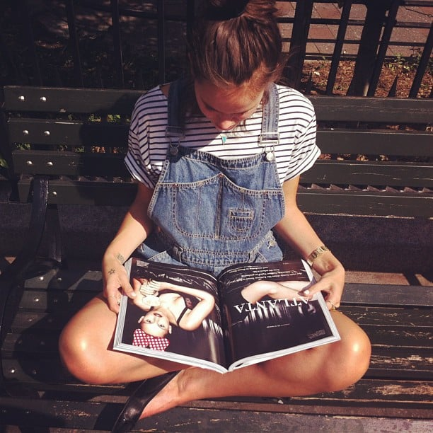 We can think of few better ways to unwind than with an issue of Love like Atlanta de Cadenet Taylor. Source: Instagram user atlantabean