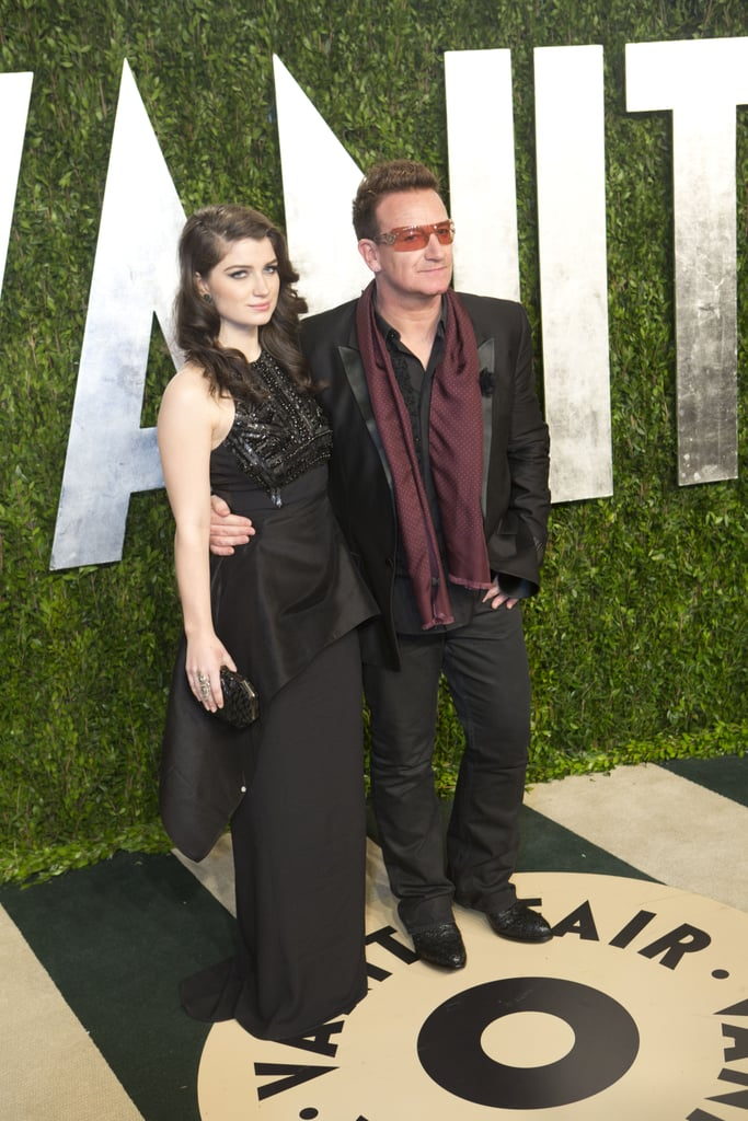 Bono and his daughter arrived at the Vanity Fair Oscar party.