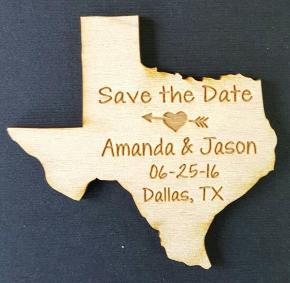 Texas Wedding Favor State Magnets