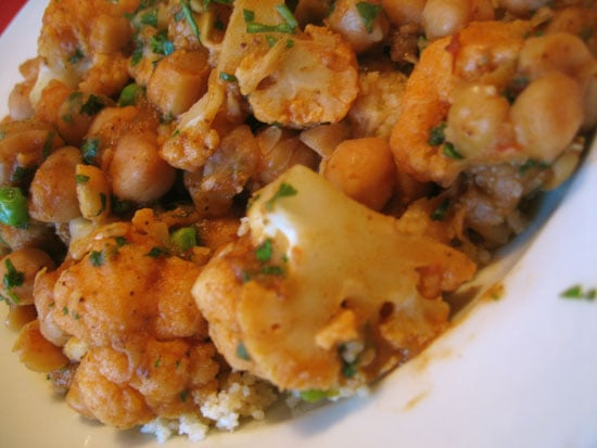 New York Time Recipe For Chickpeas, Cauliflower, Peas, and Couscous