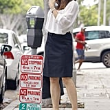Jennifer Garner stopped by her parking meter.