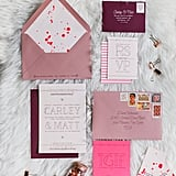 Embrace your colour scheme on the invites.