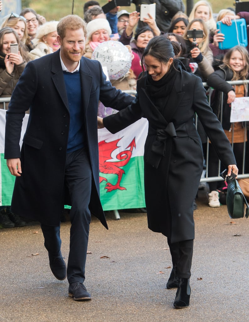 Prince Harry has always done things a little differently from his big brother, William, and one such example is how he interacts with new wife Meghan Markle in public. Since the couple made things official in 2017, their public displays of affection have had us swooning; while Will and Kate keep their PDA to a a sweet touch on the back or the occasional hug, Harry and Meghan have never shied away from holding hands, staring lovingly into each other's eyes, or pulling out their signature move — wrapping their arms around each other's back as they walk. Keep reading to see what we mean.      Related:                                                                                                           All the Ways Prince Harry and Meghan Markle Are Still Doing Good in the World