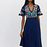 ASOS Design Embroidered Midi Dress