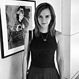 Emma Watson dropped by the NYC offices of Vogue. Source: Instagram user voguemagazine
