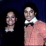 Diana Ross and Michael Jackson at the 1981 American Music Awards