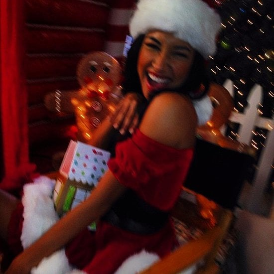 "Naya Rivera showed off her best ""Santa, Baby"" outfit to show that Christmas is coming. Source: Instagram user nayarivera"