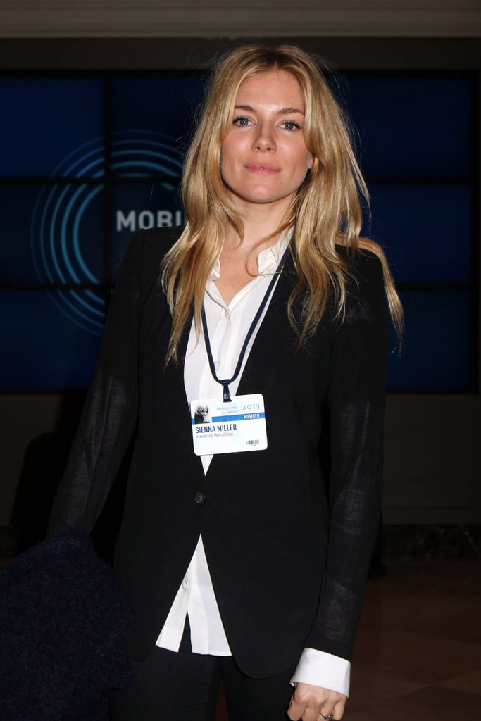 Sienna Miller, who has served as the global ambassador for International Medical Corps since 2009, attended the Clinton Global Initiative on Thursday.