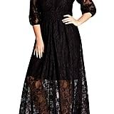 City Chic Divine Creation Lace Maxi Dress