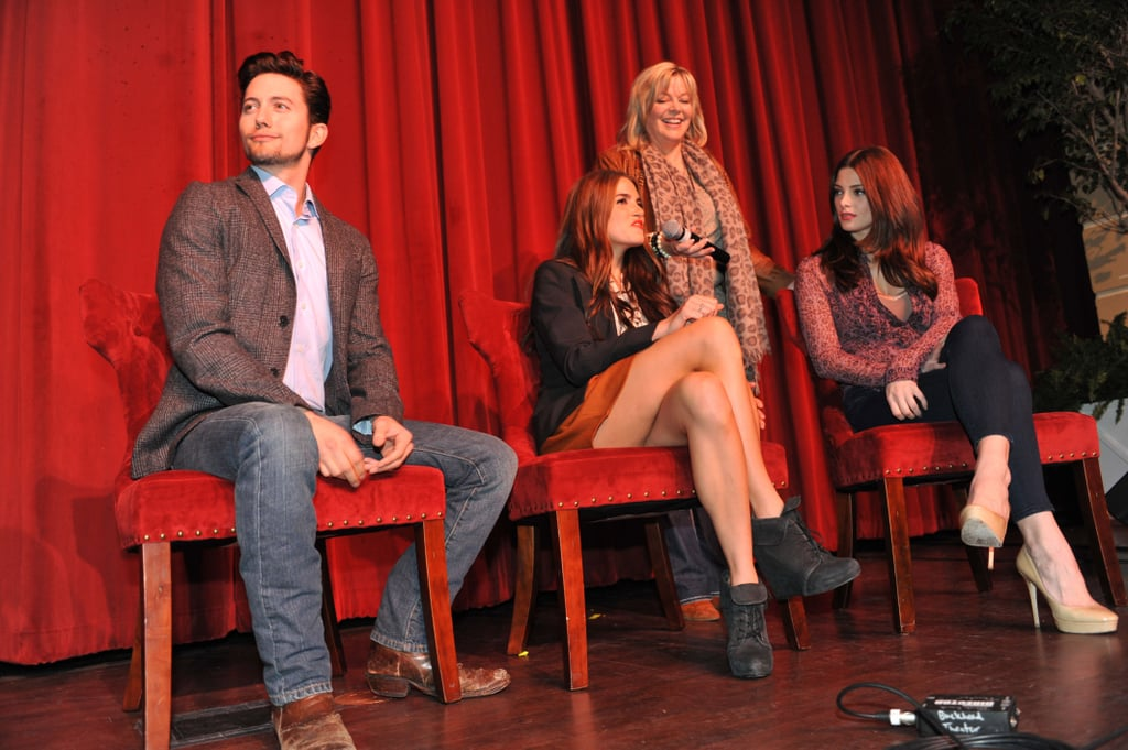 Jackson Rathbone, Nikki Reed, and Ashley Greene at a Breaking Dawn Part 1 event in Georgia.