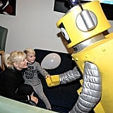 Gwen and Kingston Rossdale had some fun at a Yo Gabba Gabba! party in LA in 2010.