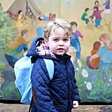 The young royal began his first day of preschool at the Westacre Montessori School in Norfolk in January.
