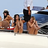 Vanessa Hudgens laughed with a friend.