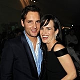 Elizabeth Reaser and Peter Facinelli hugged it out at the Breaking Dawn LA premiere party.