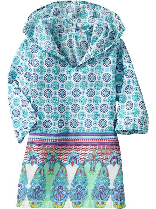 Old Navy Hooded Tropical-Print Tunic ($20)