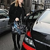 Kate Moss stepped out of her car.