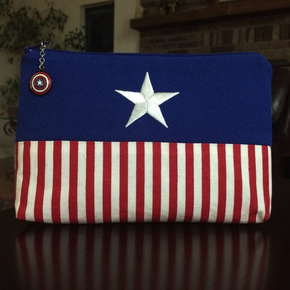 Captain America Makeup Bag