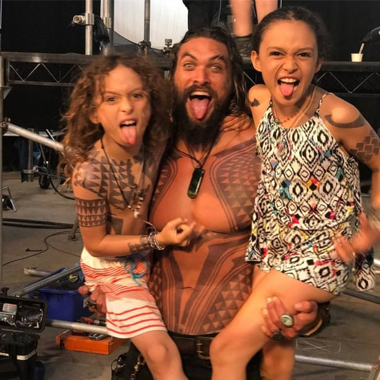 Pictures of Jason Momoa Hiking With His Kids